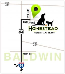 Location Map for Baldwin Animal Hospital - Homestead Veterinary Clinic